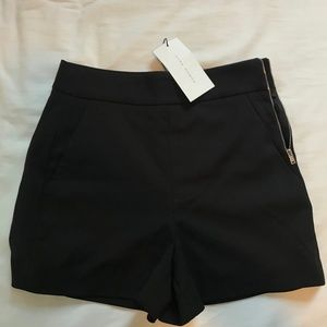 ZARA black high waisted shorts